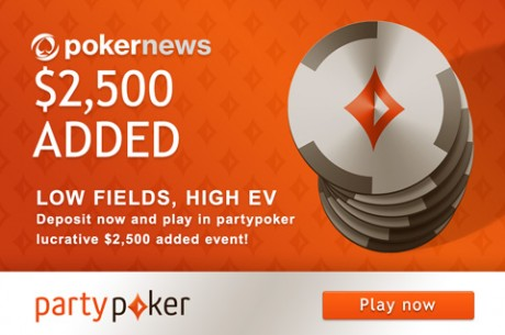 Big Value: $2,500 Added to Exclusive PokerNews.com Tournament at partypoker