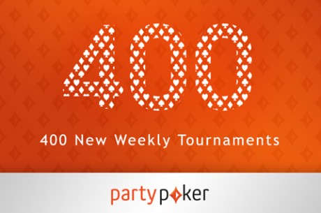 Partypoker oznámil 400 nových turnajů!