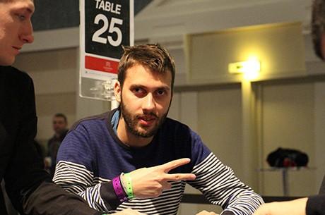 """Hugo """"Padrinho"""" Félix e Nuno """"Fellini"""" Teixeira no dia 2 do PokerStars.fr..."""