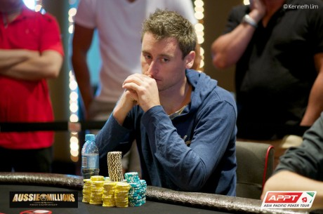 Eoghan O'Dea Bubbles the 2014 Aussie Millions Main Event Final Table