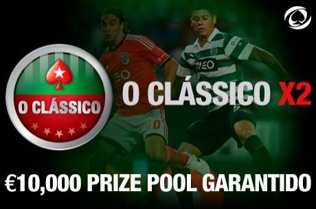 Hoje às 21:00: Clássico X2 com €10,000 Garantidos na PokerStars