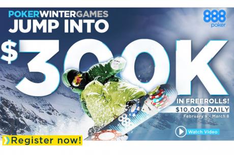 888Poker Gaji Olimpijski Duh i Domaćin je Freeroll Turnira Ukupne Vrednosti $300,000!