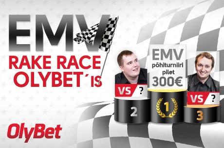 OlyBet pokkeritoas EMV satelliidid ja 17-23. veebruar EMV rakerace