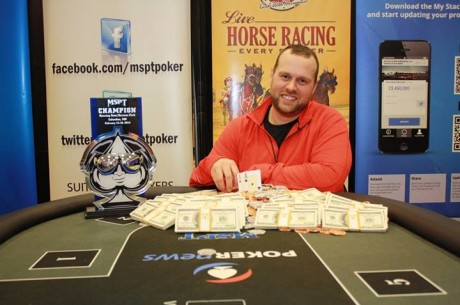 Mark Sandness Wins 2014 Mid-States Poker Tour Running Aces Harness Park for $90,913