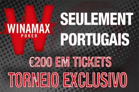 Amanhã às 20:00 - Torneio Exclusivo PNPortugal na Winamax Poker com €200 em Tickets