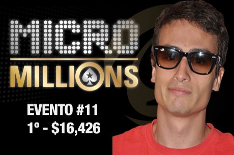 Cristiano Oliveira (1º) e Luis Caliço (2º) no Evento #11 do MicroMillions