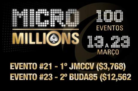 """MicroMillions 7: """"JMCCV"""" Vence Evento #21 ($3,7k) e Buda85 foi 2º no Evento #23..."""