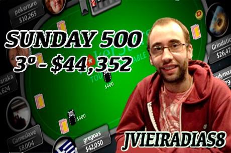 Joel Dias é Terceiro no Sunday 500 da PokerStars ($44,352)