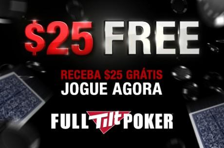 Oferta Limitada: $25 Grátis na Full Tilt Poker!