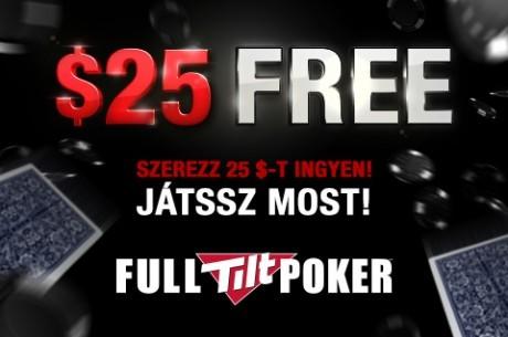 PokerNews-exkluzív ajánlat: $10 befizetés nélkül, további $15 befizetéskor a Full Tilt...