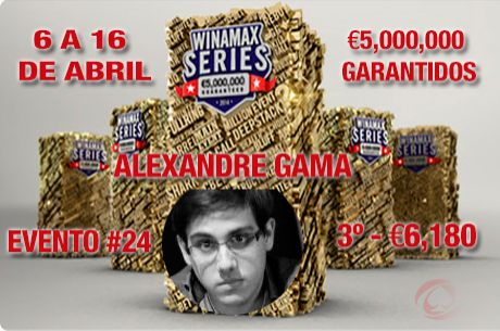 "Alexandre ""RRonSwanson"" Gama foi 3º no Evento #24 Winamax Series (€6,180.83)"