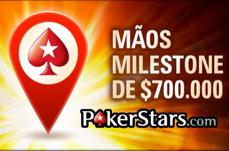 $700,000 em Prémios nas 300 Mãos Milestone da PokerStars