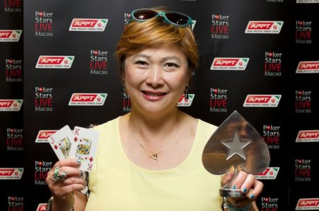 JJ Liu Osvojila 2014 PokerStars.net APPT Macau High Roller za HK$1,420,000