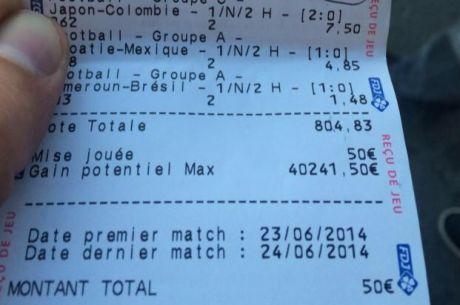Pronostics Coupe du Monde : un ticket de rêve à 40.241,50€ pour une mise de 50€