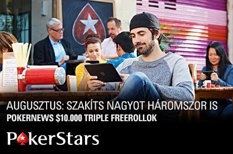 $30.000-t dobunk szét 3 exkluzív freerollon, kvalifikáció júliusban a PokerStarson!