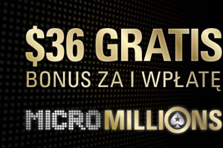 Odbierz darmowe $36 od PokerStars z okazji MicroMillions VIII!