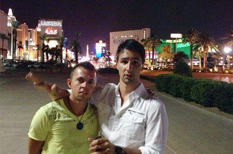 Dejan Divković i Alen Bilić iz Bosne i Hercegovine u Las Vegasu tokom 2014 WSOP