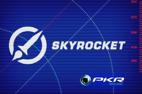 PKR Skyrocket uvítací balík: Malý krok pro Vás, ale obrovský skok pro Váš bankroll!