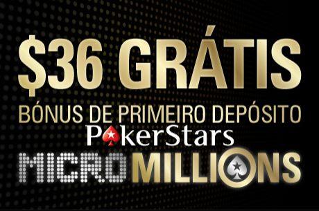 Oferta de Primeiro Depósito - $36 Grátis na PokerStars
