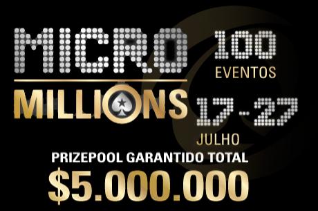 MicroMillions 8: Main Event e Sunday Storm Especial com mais de $1,300,000 em jogo (HOJE)!