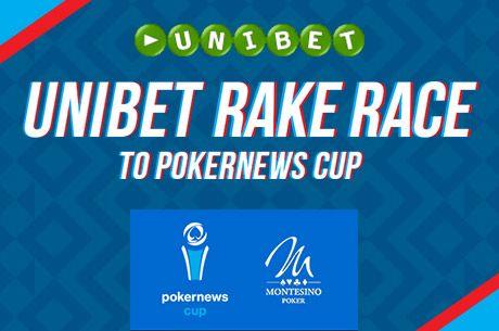 Chcete se dostat na PokerNews Cup? Vyhrajte €850 balík Unibet Rake Race!