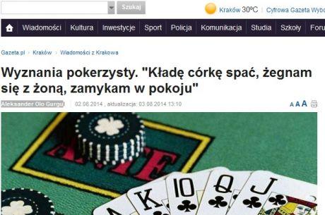 """Gazeta.pl znów pisze o pokerze. Tym razem długi tekst: """"Wyznania pokerzysty"""""""