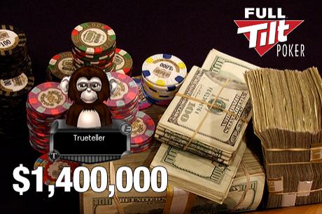 Trueteller Está a Ganhar $1,400,000 nos Últimos 7 Dias; Hansen no Verde