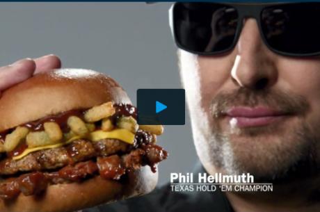 VIDEO: Phil Hellmuth negyed kiló húst tol az arcába