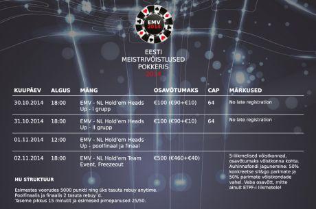 Järgmised Eesti pokkerimeistrid selguvad novembri alguses
