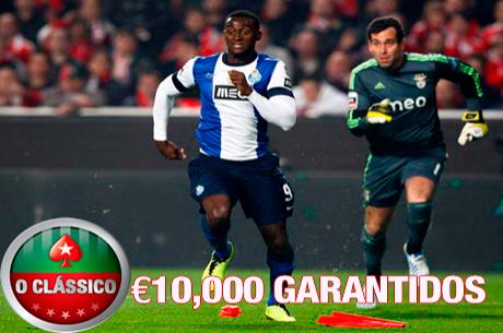 Hoje às 21:00 - O Clássico X2 com €10,000 Garantidos