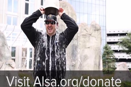Esfandiari e Hellmuth Fazem ALS Ice Bucket Challenge