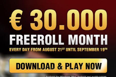 Всеки ден до 19 септември €1,000 фрийрол за депозирали...