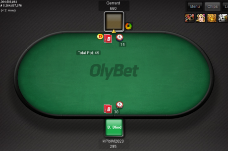 PokerNews Eesti heads-up freerollid OlyBet pokkeritoas