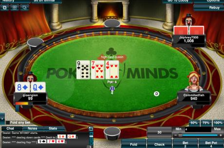 5 x €25 exkluzív freerollok a PokerMinds-on minden nap
