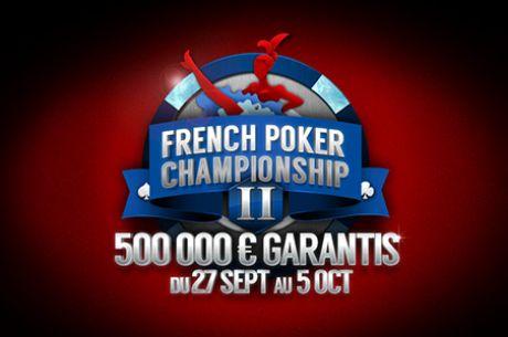 PMU Poker : programme des tournois en ligne French Poker Championship 500.000€ GTD