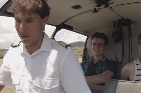 Andarias de Helicóptero com Rafa Nadal a Pilotar?