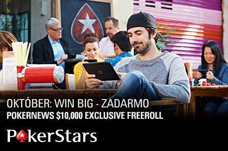 Kvalifikujte sa na exkluzívny $10.000 freeroll PokerStars
