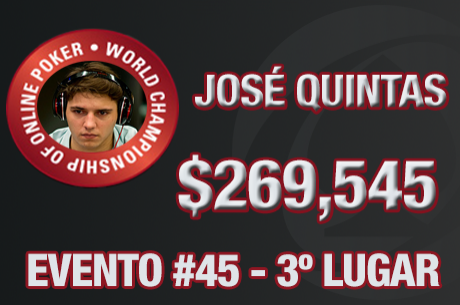 José Quintas Foi 3º no Evento #45 do WCOOP ($269,545)