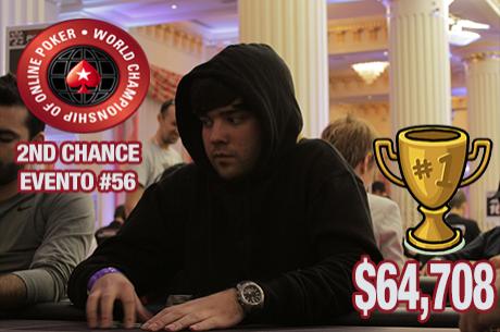 Pedro Oliveira Vence 2nd Chance WCOOP #56 ($64,708); Quintas foi 4º ($26,976)