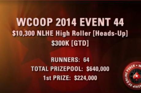 Podívejte se na finální stoly Heads Up High Roller eventu WCOOP 2014!