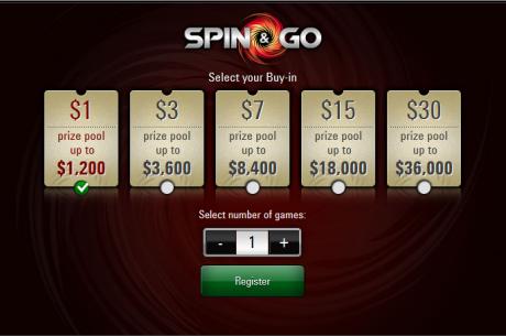PokerStars patvirtino: Spin & Go žaidimų mokestis bus pats mažiausias