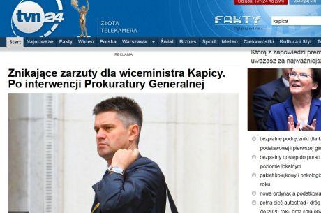 Minister Kapica oskarżony przez prokuraturę. Sprawa zamieciona pod dywan...