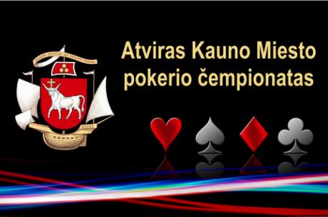 Spalio 20-25 dienomis - antrasis Kauno miesto pokerio čempionatas
