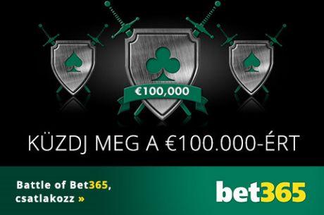 Napi €2.000-os freerollok a Battle of Bet365 akcióban!
