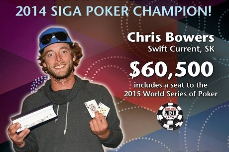 Chris Bowers Wins SIGA Poker Championship for $60,500