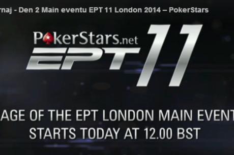 Sledujte živý přenos z 3. dne £4.250 Main eventu EPT11 Londýn v češtině