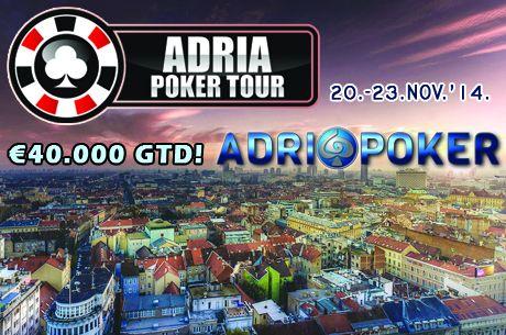 ADRIA POKER TOUR Inauguralni Event se igra u Zagrebu 20.-23. Novembra 2014.