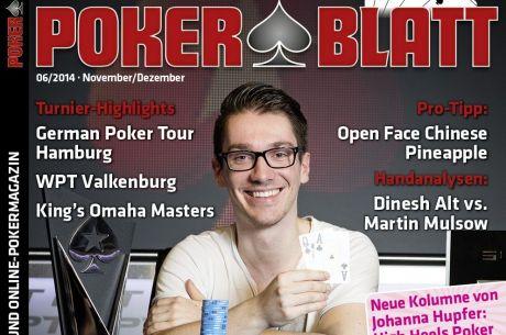 Neue PokerBlatt-Ausgabe ab 31. Oktober 2014 im Handel!
