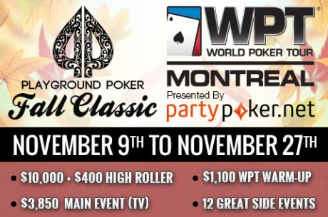 The Playground Poker Fall Classic Is Underway!