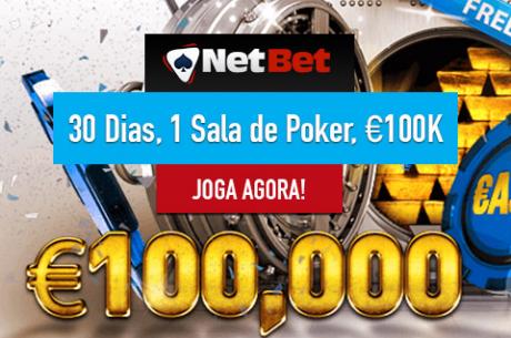 NetBet Poker €100,000 em Freerolls: Domingo Realiza-se o Segundo, €20,000 em Jogo